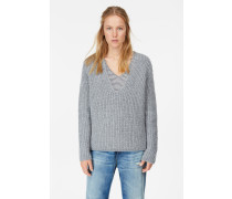 V-Pullover aus Royal Baby Alpaka Mix grey heather melange