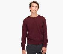 Sweatshirt in Uni deep wine