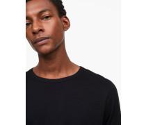 Langarmshirt mit Kaschmir black