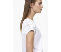 T-Shirt mit Stickereien white
