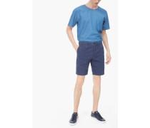 Shorts aus Canvas storm blue
