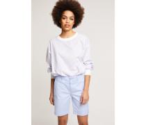 Shorts aus Baumwoll-Stretch sky