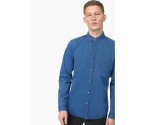 Button Down Hemd aus Indigo-Twill indigo