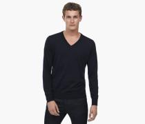 Pullover aus reiner Merinowolle navy