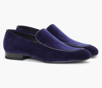 Loafers aus Samt navy