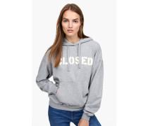 Kapuzensweatshirt mit -Logo light grey melange