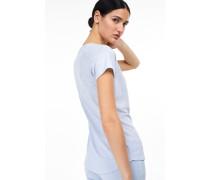T-Shirt aus Melange Jersey blue cadillac