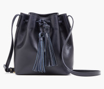 Leder Bucket Bag navy