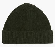 Mütze aus Mouliné shadow green