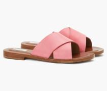 Sandaletten mit gekreuzten Riemen berry gum