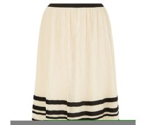 Pleated Striped Tulle Midi Skirt