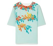 Conga Floral-print Stretch-scuba T-shirt
