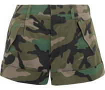 Camouflage-print cotton-twill shorts