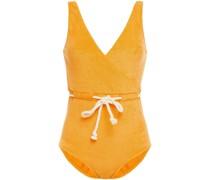 Yasmin Badeanzug aus Frottee aus Einer Baumwollmischung mit Wickeleffekt