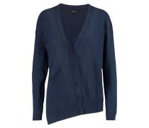Asymmetric Cotton Cardigan Mitternachtsblau
