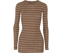 Ribbed-knit Cotton And Cashmere-blend Top Braun
