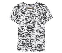 Woman Zebra-print Cotton-jersey T-shirt Animal Print