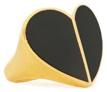 Goldfarbener Ring mit Emaille