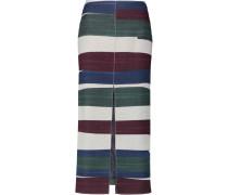 Striped Wool-blend Midi Skirt Mehrfarbig