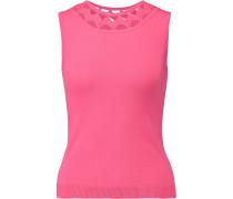 Cutout Jersey Top Pink