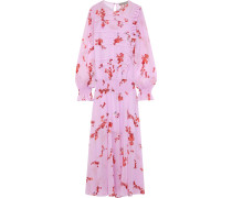 Gilda Ruffle-trimmed Floral-print Chiffon Maxi Dress