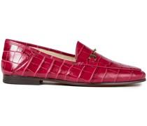 Loafers aus Leder mit Krokodileffekt und Verzierung