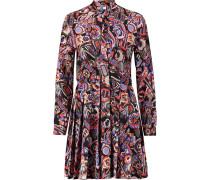 Printed Silk Crepe De Chine Mini Dress Mehrfarbig
