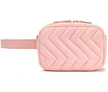 Woman Convertible Quilted Leather Belt Bag Baby Pink