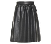Gathered Faux Leather Skirt
