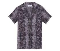 Vacation Hemd aus Baumwoll-voile mit Schlangenprint