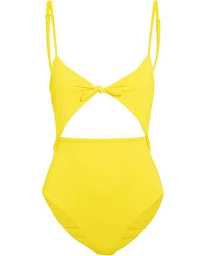Cutout Swimsuit Yellow