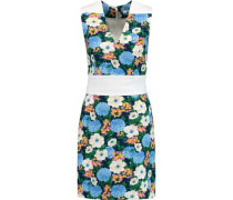 Floral-print crepe dress