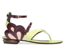 Petal Leather Sandals Limette