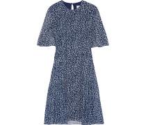 Bedrucktes Kleid aus Chiffon mit Falten
