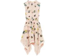 Tiered Floral-print Chiffon Dress