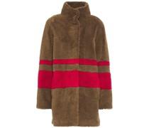 Evian Gestreifter Mantel aus Kunstfell