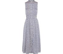 Andrinna Printed Washed-satin Midi Dress