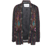 Bead And Sequin-embellished Georgette Jacket