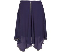 Asymmetric Layered Crepe De Chine Skirt
