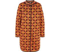 Metallic Crochet-knit Coat Orange