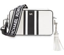 Monogram-trimmed Smooth And Pebbled-leather Shoulder Bag