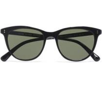 Cat-eye Studded Acetate Sunglasses Black Size --