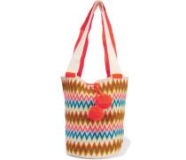 Lilla Crocheted Cotton Shoulder Bag Mehrfarbig