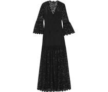 Andoni Lace Maxi Dress Schwarz