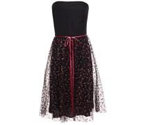 Trägerloses Kleid aus Seiden-faille und Tüll mit Glitter-finish Schleife
