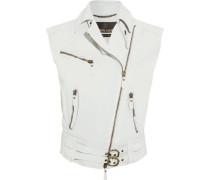 Textured-leather vest