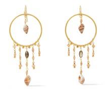 -tone, Pearl And Shell Earrings