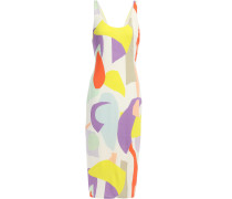 James Printed Stretch-jersey Midi Dress