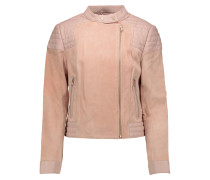 Cardiff Leather And Suede Jacket Neutral