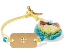 Embellished Gold-tone Cord Bracelet Mehrfarbig